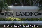Fox Landing community sign
